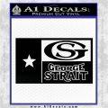George Strait Decal Sticker Texas Flag Black Logo Emblem 120x120