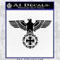 German Army WW2 Iron Cross Eagle Decal Sticker Black Logo Emblem 120x120
