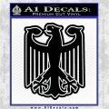 German Eagle Crest Deutschland Germany Flag Decal Sticker Black Logo Emblem 120x120