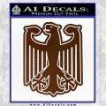 German Eagle Crest Deutschland Germany Flag Decal Sticker Brown Vinyl 120x120