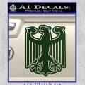 German Eagle Crest Deutschland Germany Flag Decal Sticker Dark Green Vinyl 120x120