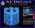 German Eagle Crest Deutschland Germany Flag Decal Sticker Light Blue Vinyl 120x97