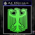 German Eagle Crest Deutschland Germany Flag Decal Sticker Lime Green Vinyl 120x120