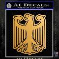 German Eagle Crest Deutschland Germany Flag Decal Sticker Metallic Gold Vinyl Vinyl 120x120