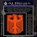 German Eagle Crest Deutschland Germany Flag Decal Sticker Orange Vinyl Emblem 120x120