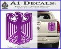 German Eagle Crest Deutschland Germany Flag Decal Sticker Purple Vinyl 120x97