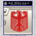 German Eagle Crest Deutschland Germany Flag Decal Sticker Red Vinyl 120x120