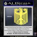 German Eagle Crest Deutschland Germany Flag Decal Sticker Yelllow Vinyl 120x120