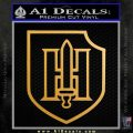 German WWII 9th SS Panzer Division Nazi Decal Sticker Metallic Gold Vinyl Vinyl 120x120