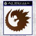 Godzilla CR Decal Sticker Brown Vinyl 120x120