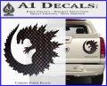 Godzilla CR Decal Sticker Carbon Fiber Black 120x97