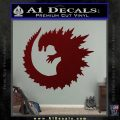 Godzilla CR Decal Sticker Dark Red Vinyl 120x120