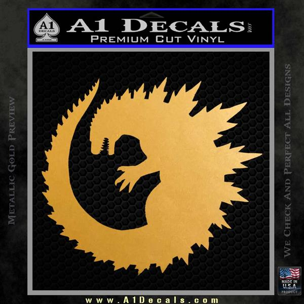 Godzilla CR Decal Sticker Metallic Gold Vinyl Vinyl