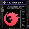 Godzilla CR Decal Sticker Pink Vinyl Emblem 120x120