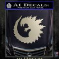 Godzilla CR Decal Sticker Silver Vinyl 120x120