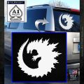 Godzilla CR Decal Sticker White Emblem 120x120