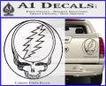 Grateful Dead Rock Band DO Decal Sticker Carbon Fiber Black 120x97