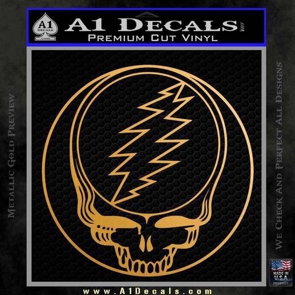 Grateful Dead Rock Band DO Decal Sticker Metallic Gold Vinyl Vinyl