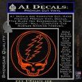 Grateful Dead Rock Band DO Decal Sticker Orange Vinyl Emblem 120x120