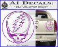 Grateful Dead Rock Band DO Decal Sticker Purple Vinyl 120x97