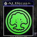 Green Mana Symbol Decal Sticker MTG Magic Lime Green Vinyl 120x120