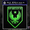 Halo Spartan Insignia Decal Sticker Lime Green Vinyl 120x120