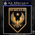 Halo Spartan Insignia Decal Sticker Metallic Gold Vinyl Vinyl 120x120