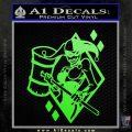 Harley Quinn DIA Decal Sticker Lime Green Vinyl 120x120