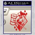 Harley Quinn DIA Decal Sticker Red Vinyl 120x120