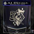 Harley Quinn DIA Decal Sticker Silver Vinyl 120x120