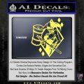 Harley Quinn DIA Decal Sticker Yelllow Vinyl 120x120