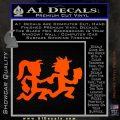 ICP Insane Clown Posse Couple Decal Sticker Juggalo RDZ Decal Sticker Orange Vinyl Emblem 120x120