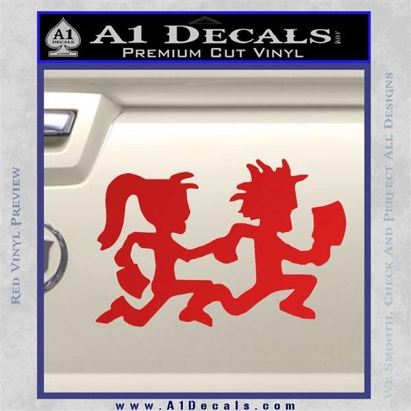 ICP Insane Clown Posse Couple Decal Sticker Juggalo RDZ Decal Sticker Red Vinyl