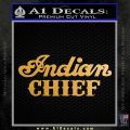 Indian Motorcycle Decal Sticker Chief ST Metallic Gold Vinyl Vinyl 120x120