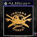 Indiana Jones Crest Decal Sticker Metallic Gold Vinyl Vinyl 120x120