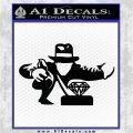 Indiana Jones Grab Decal Sticker Black Logo Emblem 120x120