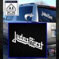 Judas Priest Decal Sticker White Emblem 120x120
