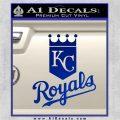 KC Royals Decal Sticker Stacked Blue Vinyl 120x120