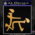 Kanji Sex Decal Sticker Funny Metallic Gold Vinyl Vinyl 120x120
