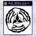 Klingon Batliff Sword CR Decal Sticker Black Logo Emblem 120x120