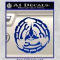 Klingon Batliff Sword CR Decal Sticker Blue Vinyl 120x120