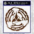 Klingon Batliff Sword CR Decal Sticker Brown Vinyl 120x120