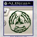 Klingon Batliff Sword CR Decal Sticker Dark Green Vinyl 120x120