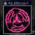 Klingon Batliff Sword CR Decal Sticker Hot Pink Vinyl 120x120
