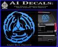 Klingon Batliff Sword CR Decal Sticker Light Blue Vinyl 120x97