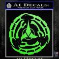 Klingon Batliff Sword CR Decal Sticker Lime Green Vinyl 120x120