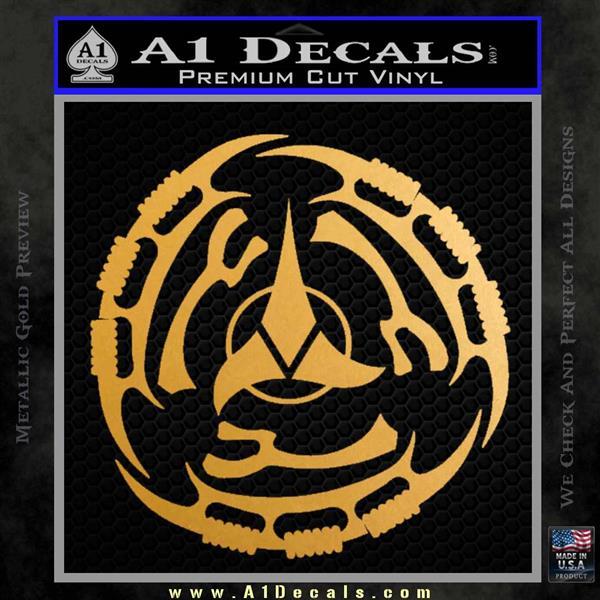 Klingon Batliff Sword CR Decal Sticker Metallic Gold Vinyl Vinyl