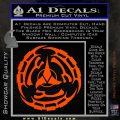 Klingon Batliff Sword CR Decal Sticker Orange Vinyl Emblem 120x120