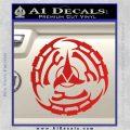 Klingon Batliff Sword CR Decal Sticker Red Vinyl 120x120