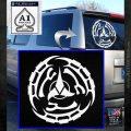 Klingon Batliff Sword CR Decal Sticker White Emblem 120x120